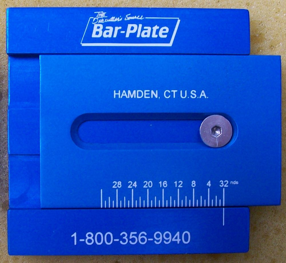 Laser Marked anodized aluminum ruler manufactured by Accurate Tool and Die of Stamford Connecticut - for BarPlate